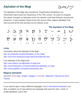 Magic Magi Alphabet